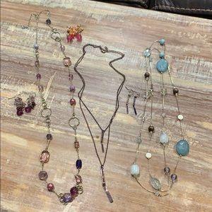 Group of Necklaces,Earrings & Bracelet